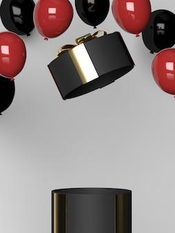 3d-rendering der box offen
