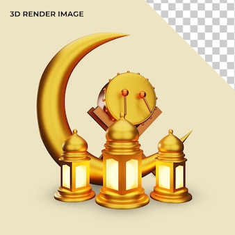 3d-rendering der islamischen dekoration
