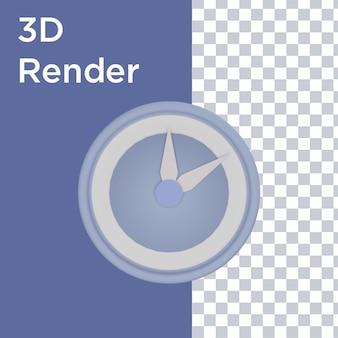 3d-rendering der vorderansicht der uhr