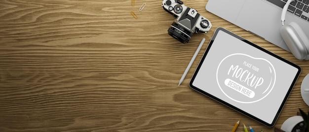 3d-rendering des digitalen tablet-modells