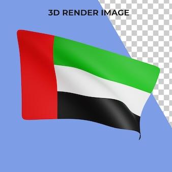 3d-rendering des flaggenkonzepts der vereinigten arabischen emirate nationalfeiertag der vereinigten arabischen emirate
