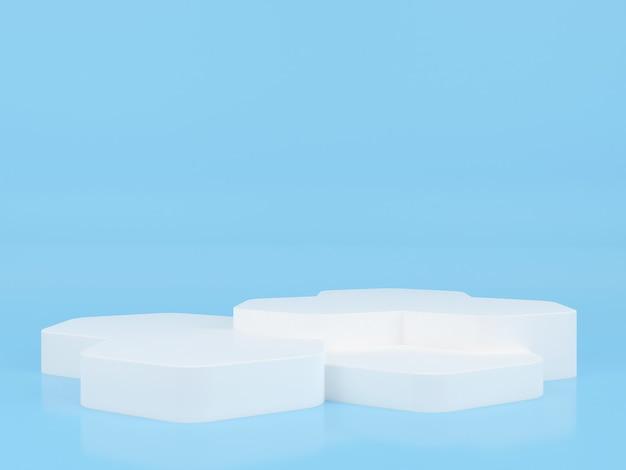 3d-rendering des geometrischen form-podium-anzeige-modells