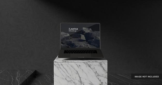 3d-rendering des laptop-modellentwurfs