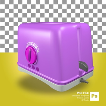 3d-rendering des lila toaster-objekts