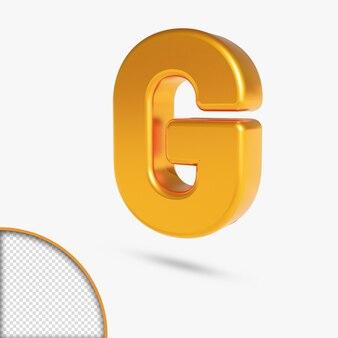 3d-rendering des metallischen goldalphabets