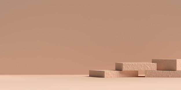 3d-rendering des podiums der abstrakten szenengeometrieform