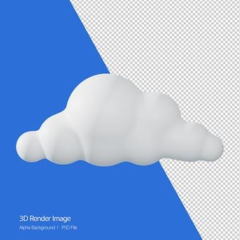 3d-rendering des prognostizierten wetters 'wolkig', isoliert auf weiss.