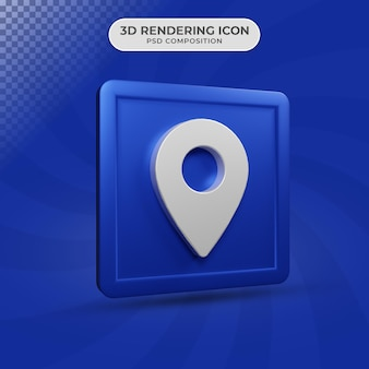 3d-rendering des standortikonendesigns