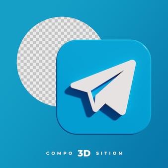 3d-rendering des telegrammsymbols