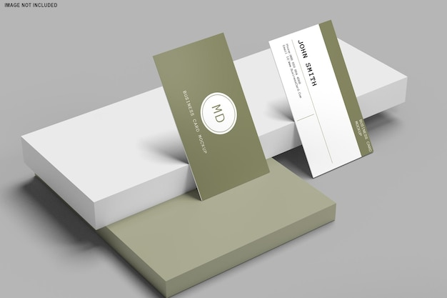 3d-rendering des visitenkarten-modellentwurfs