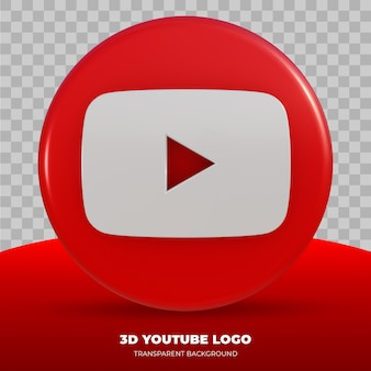3d-rendering des youtube-logos