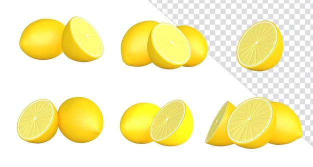 3d-rendering-elemente frucht zitrone