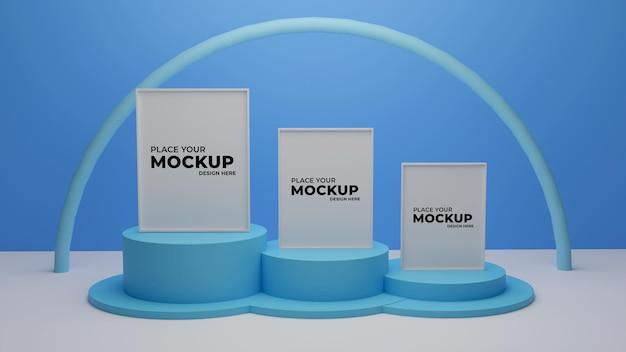 3d-rendering fotorahmen-modell