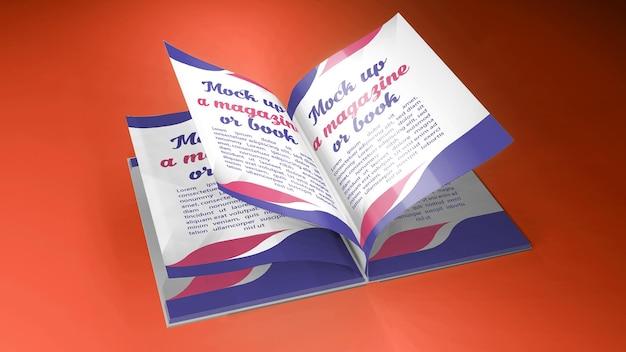 3d-rendering für mockup open book