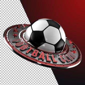 3d-rendering fußball fußball emblem grafik