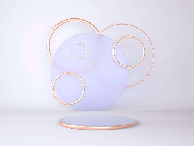 3d-rendering geometrisches formenkonzept-rendering