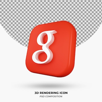 3d-rendering google icon-objekt