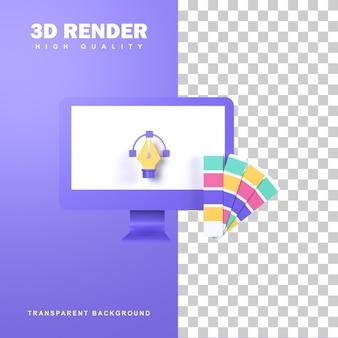 3d-rendering-grafik-design-konzept mit kreativem denken.