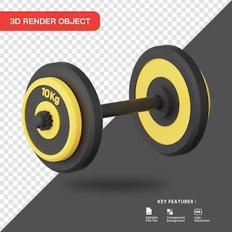 3d-rendering hantelsymbol