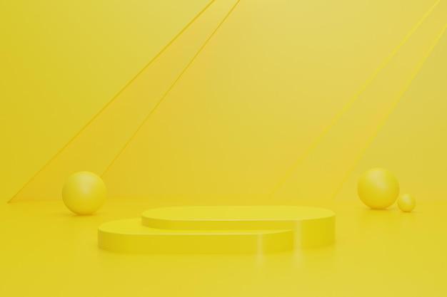 3d-rendering-hintergrund für die produktpräsentation