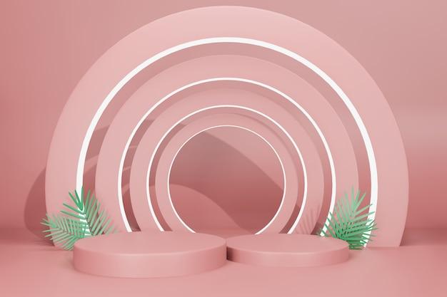 3d-rendering-illustrationsbühnenanzeigemodell