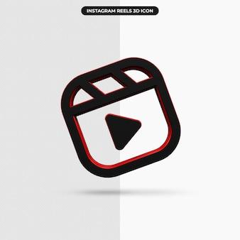 3d-rendering-instagram-rollen-symbol