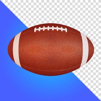 3d-rendering isolierter amerikanischer fußball