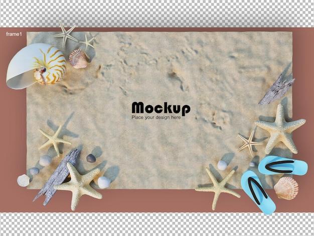 3d-rendering kleine baumanordnung mit fotorahmen