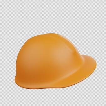 3d-rendering-konzept bau symbol schutzhelm