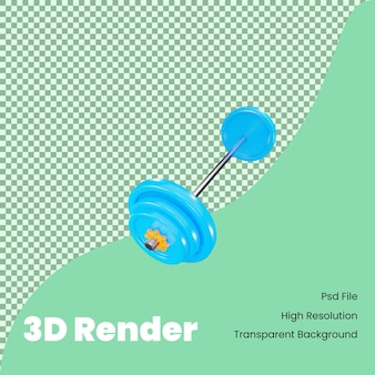 3d-rendering langhantelsymbol