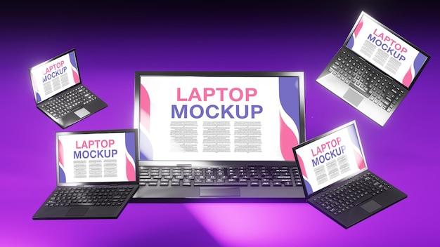 3d-rendering-laptop-modell
