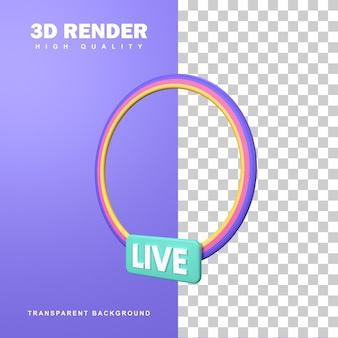 3d-rendering-live-streaming-symbol-abzeichen.