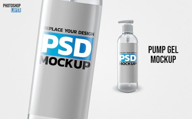 3d-rendering-modell der gelpumpenflasche
