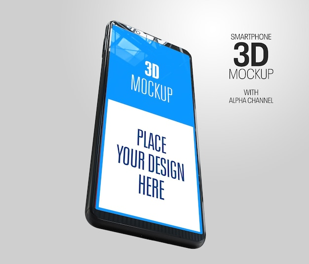 3d-rendering-modell der smartphone-ansicht