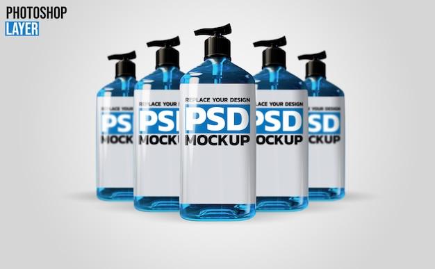 3d-rendering-modell für gelpumpenflaschen