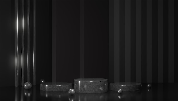 3d-rendering moderne podiumanzeige oder präsentationsstufe