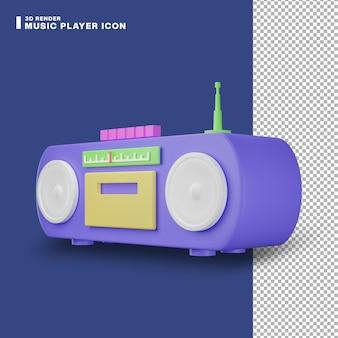 3d-rendering-musik-player-symbol