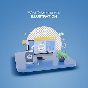 3d-rendering-online-marktplatz für die webentwicklung