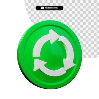 3d-rendering-pfeilsymbol isoliert