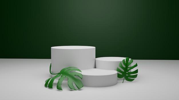 3d-rendering-podium für die produktplatzierung