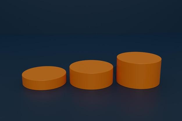 3d-rendering podium produktdisplay hintergrund