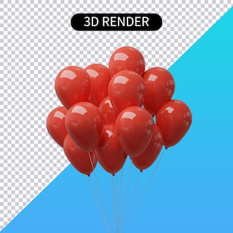 3d-rendering realistischen ballon isoliert