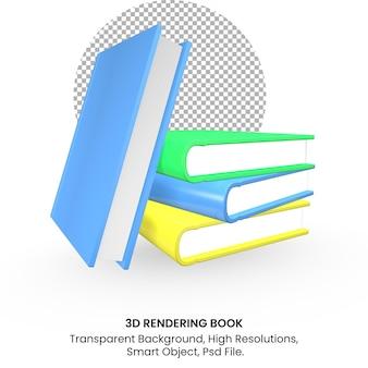 3d-rendering realistisches buch auf transparentem hintergrund