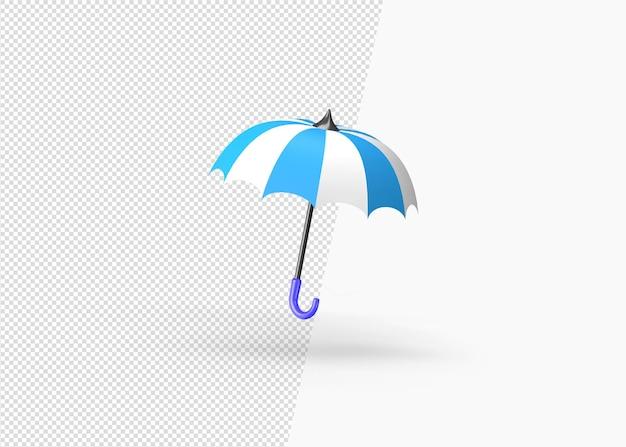 3d-rendering sommer regenschirm schützen