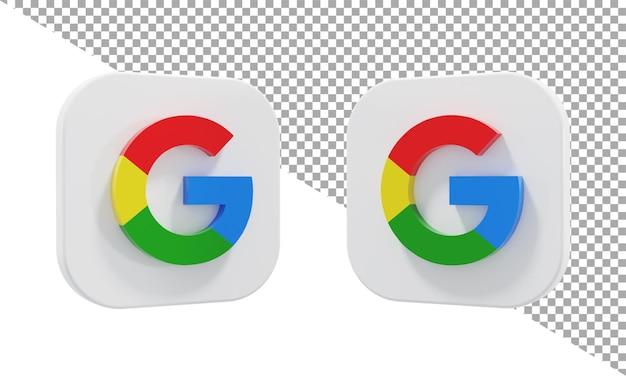 3d-rendering-symbol logo google isometrisch
