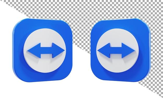 3d-rendering-symbol logo team viewer isometrisch