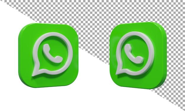 3d-rendering-symbol logo whats app isometrisch