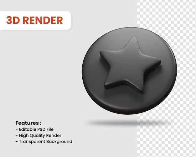 3d-rendering-symbol von stern isoliert dunkle farbe