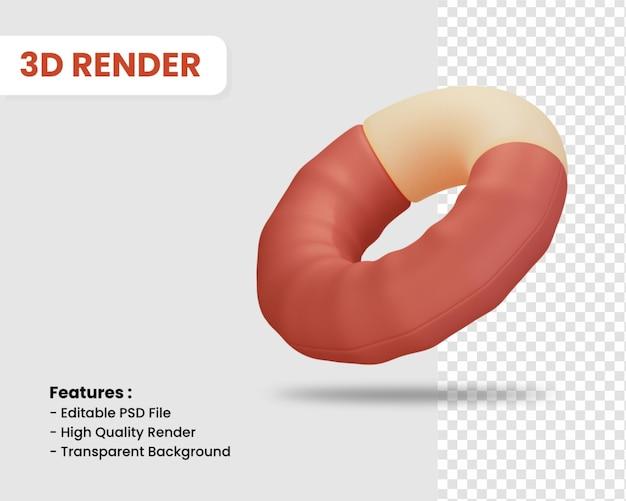 3d-rendering-symbol von torus isoliert