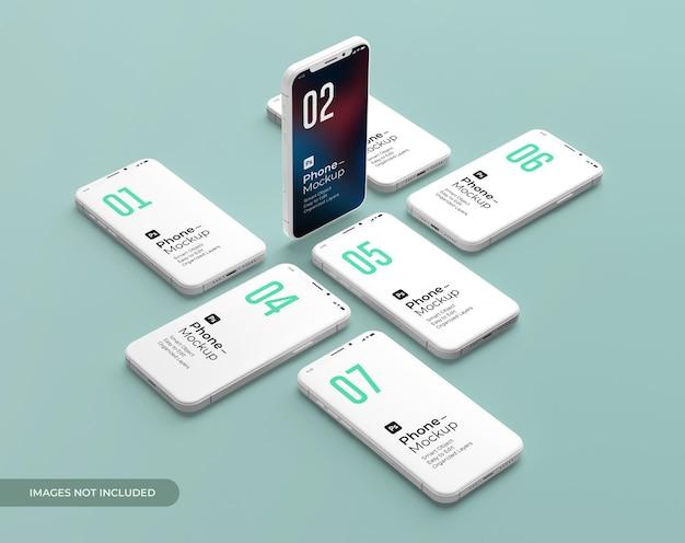 3d-rendering-telefonmodell auf grünem hintergrund premium psd